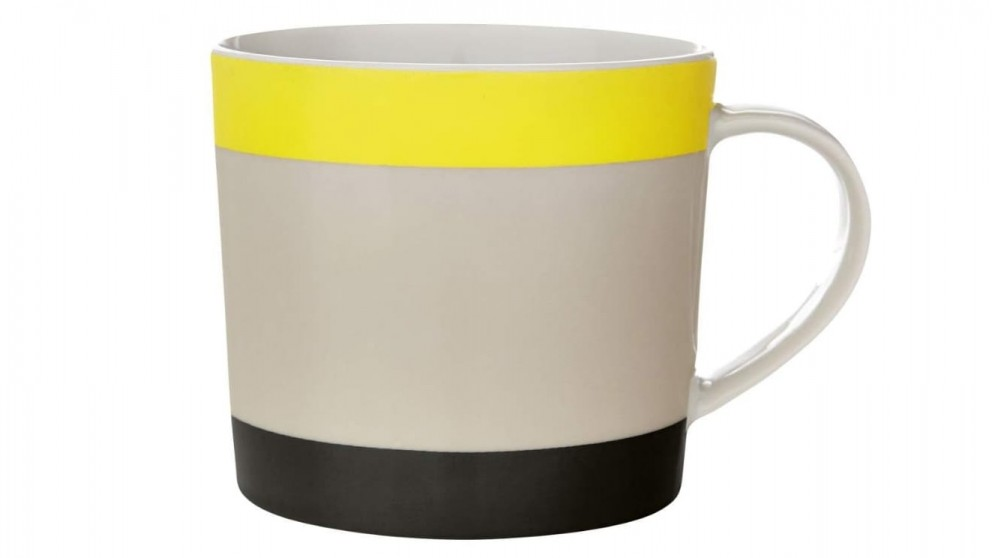 Aura Double Dip Coffee Mug - Yellow/Black
