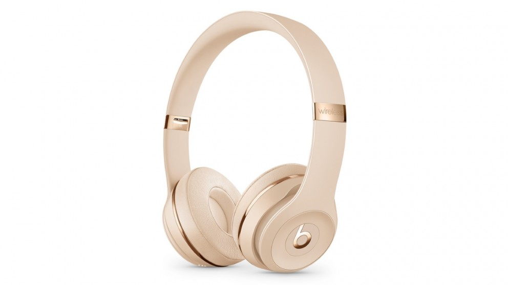 74a35d1979d Cheap Beats Solo3 Wireless On-Ear Headphones - Satin Gold | Harvey Norman AU