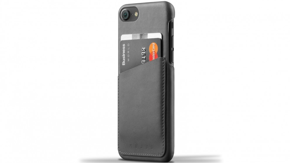 Mujjo Leather Wallet Case for iPhone 7 - Grey