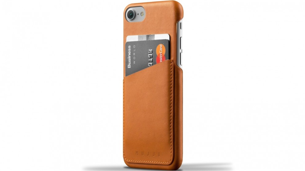 Mujjo Leather Wallet Case for iPhone 7 - Tan