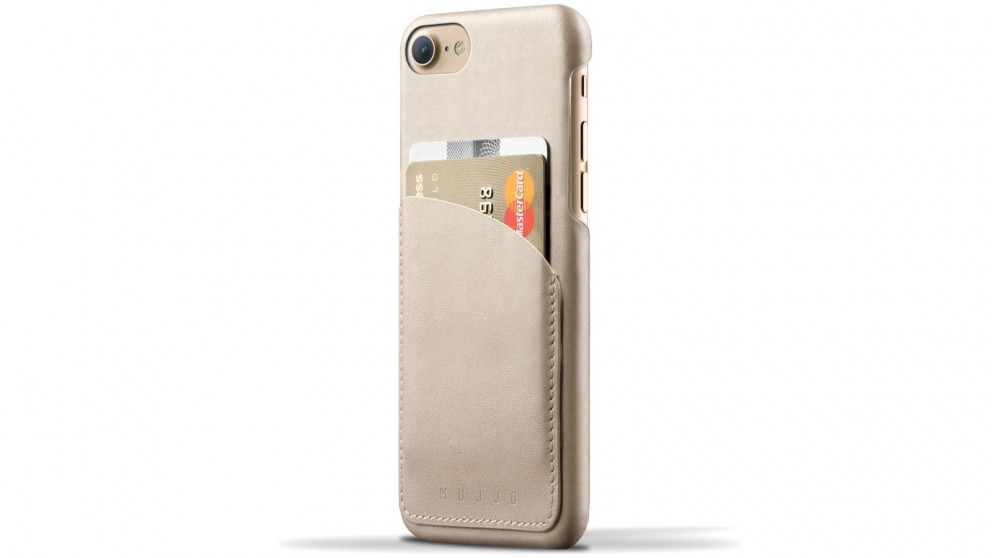 Mujjo Leather Wallet Case for iPhone 7 - Champagne