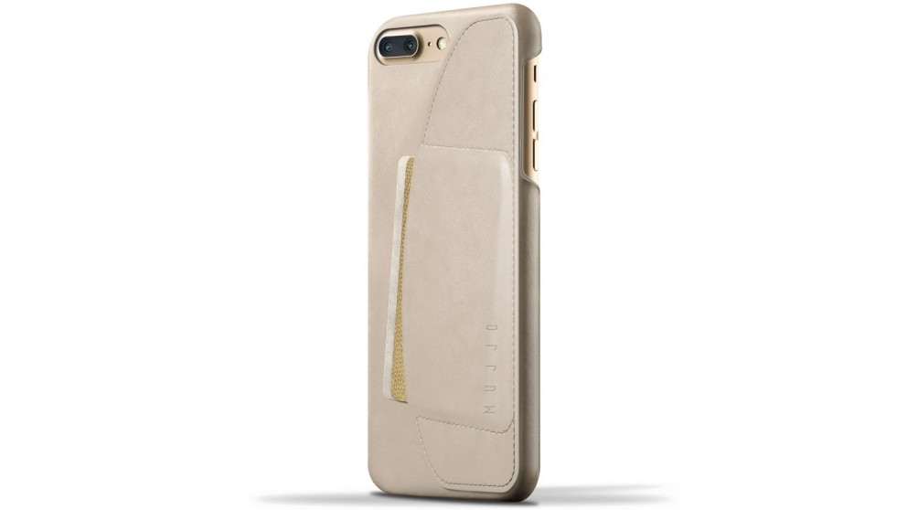 Mujjo Premium Leather Wallet Case for iPhone 7 Plus - Champagne