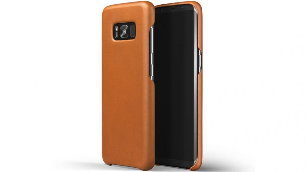 Mujjo Leather Case for Samsung Galaxy S8 - Saddle Tan
