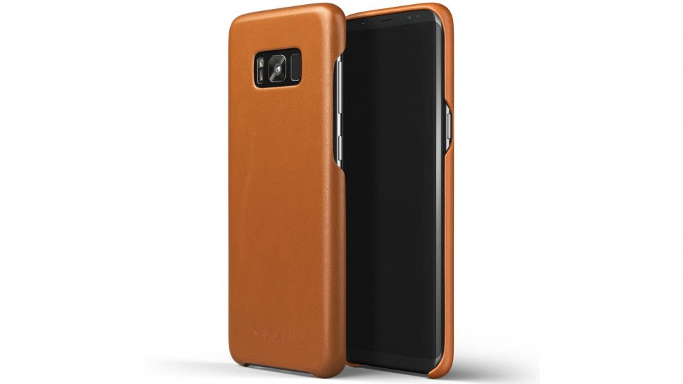 Mujjo Leather Case for Samsung Galaxy S8+- Saddle Tan
