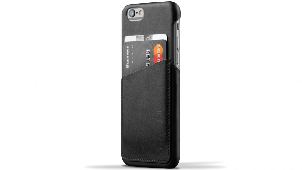 Mujjo Leather Wallet Case for iPhone 6s - Black