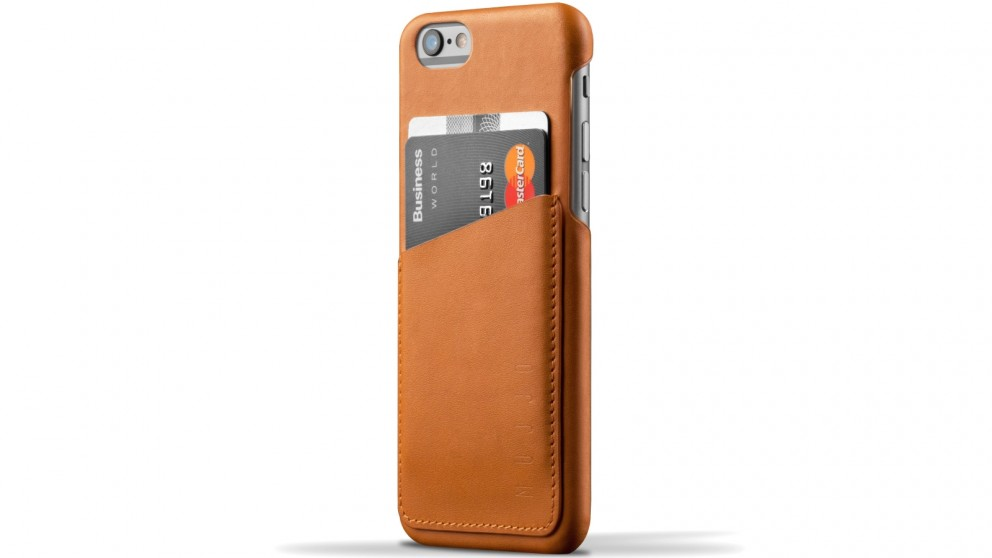 Mujjo Leather Wallet Case for iPhone 6s - Tan
