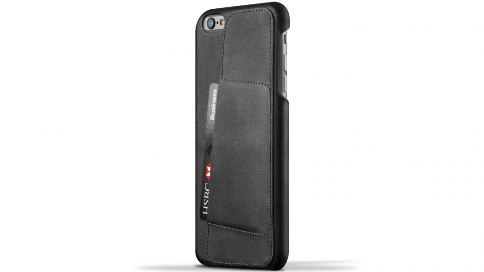 Mujjo 80 Degree Leather Wallet Case for iPhone 6s Plus - Black