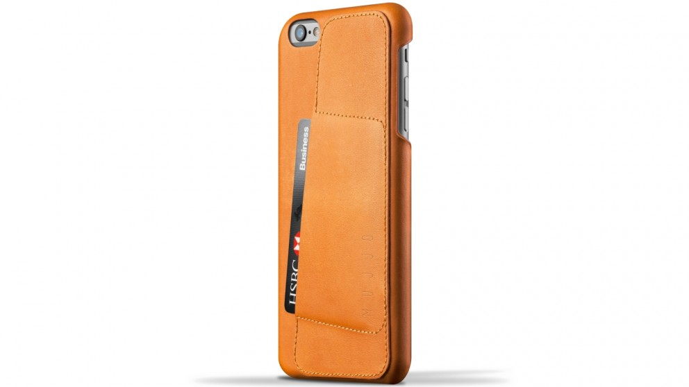 Mujjo 80 Degree Leather Wallet Case for iPhone 6s Plus - Tan