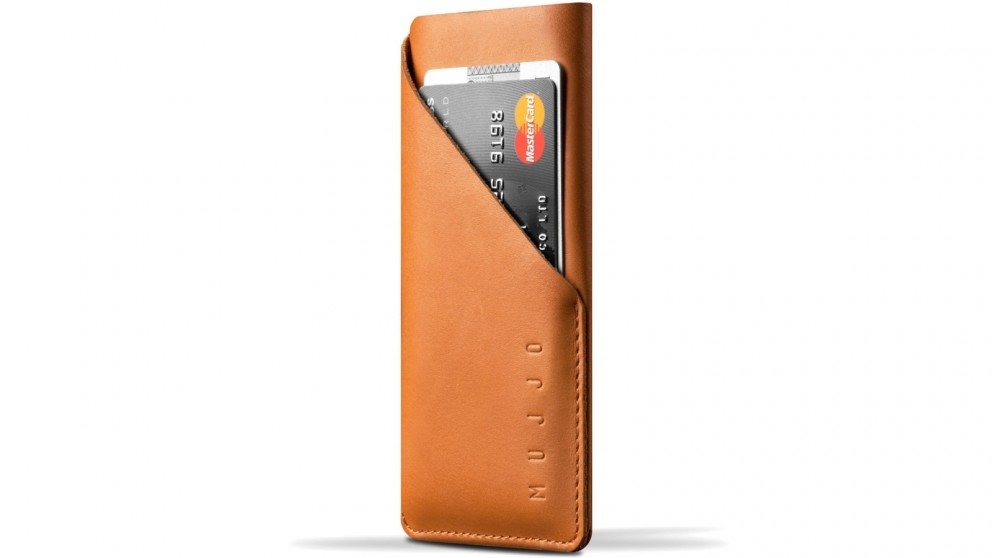 Mujjo Leather Wallet Sleeve for iPhone 7 - Tan