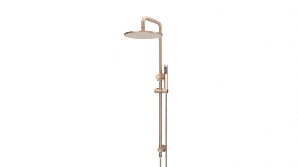 Meir Round 300mm Rose Combination Shower Rail with Single Function Hand Shower - Champagne