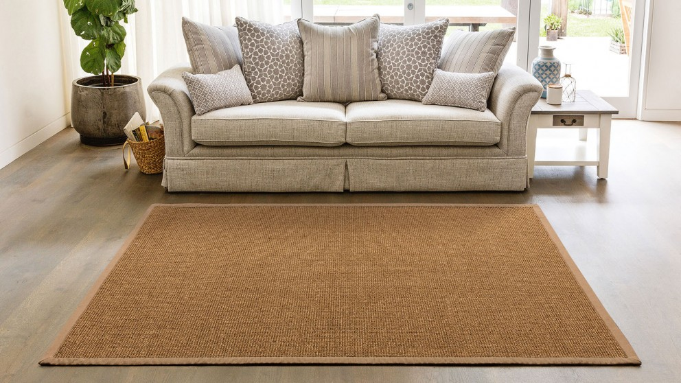 Natural Sisal Boucle Brown Extra Large Rug