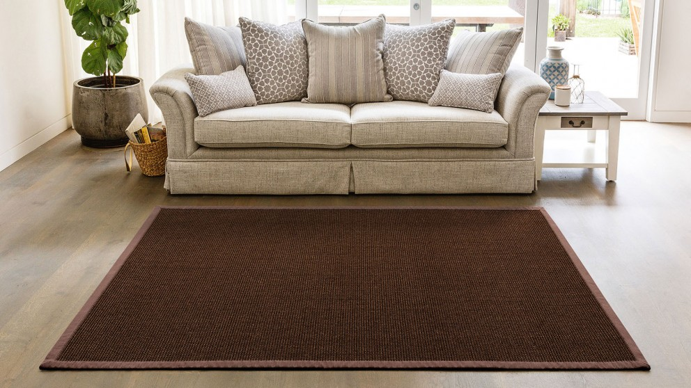 Natural Sisal Boucle Chocolate Rug