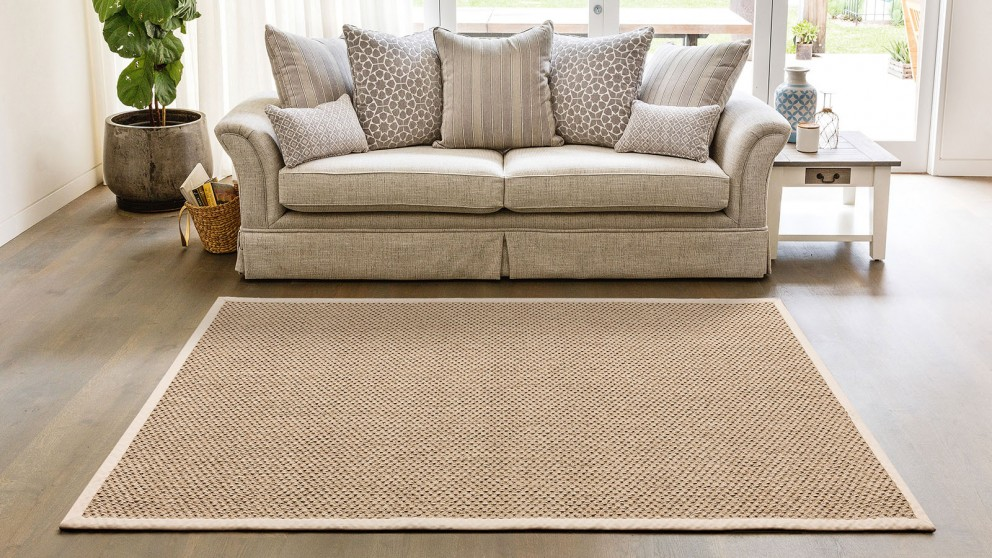 Natural Sisal Rope Taupe Large Rug