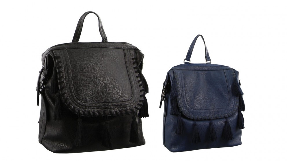 Milleni Flap Over Backpack with Tassels