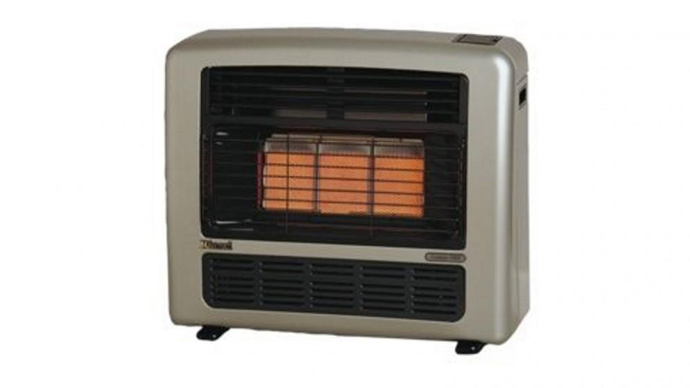 Rinnai Granada 252 Unflued Natural Gas Radiant Convector Heater - Platinum Silver