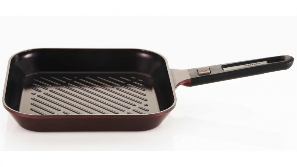Neoflam 28cm MyPan Induction Grill Pan - Red Ruby