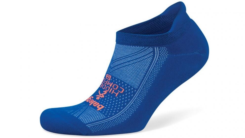 Hidden Comfort No Show Neon Blue Socks - Large