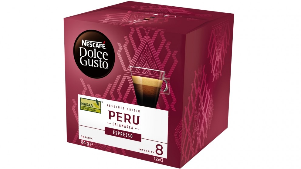 Nescafe Dolce Gusto Peru Espresso Organic Single Origin 12 Coffee Capsule
