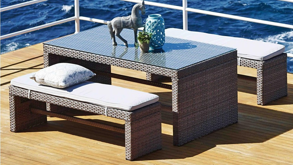 Attractive Hampton 3 Piece Outdoor Rectangular Bench Dining Setting   Outdoor Dining    Outdoor Living   Furniture, Outdoor U0026 BBQs | Harvey Norman Australia Part 29