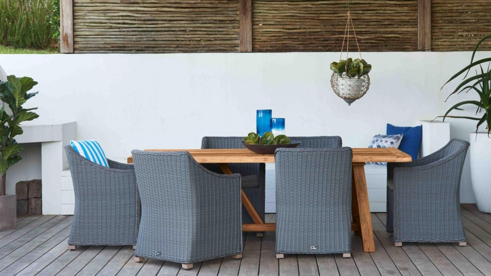 urban 7 piece outdoor dining setting - outdoor dining - outdoor