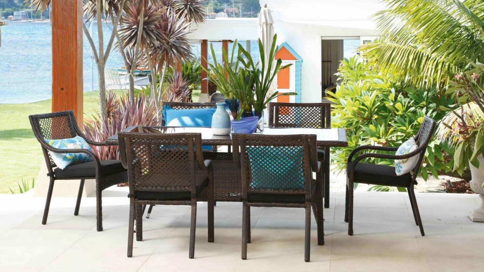 fraser ii 7 piece outdoor rectangular dining setting - outdoor