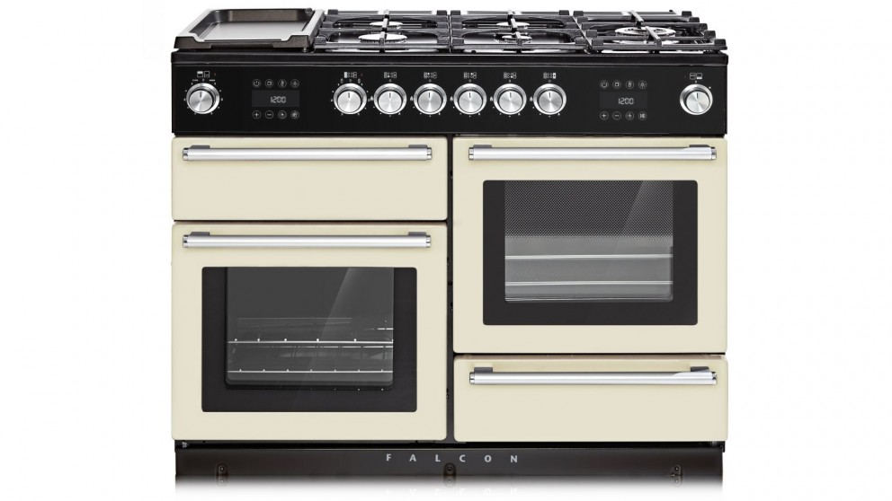 Falcon Nexus Steam 1100mm Chrome Fitting Freestanding Dual Fuel Cooker - Ivory
