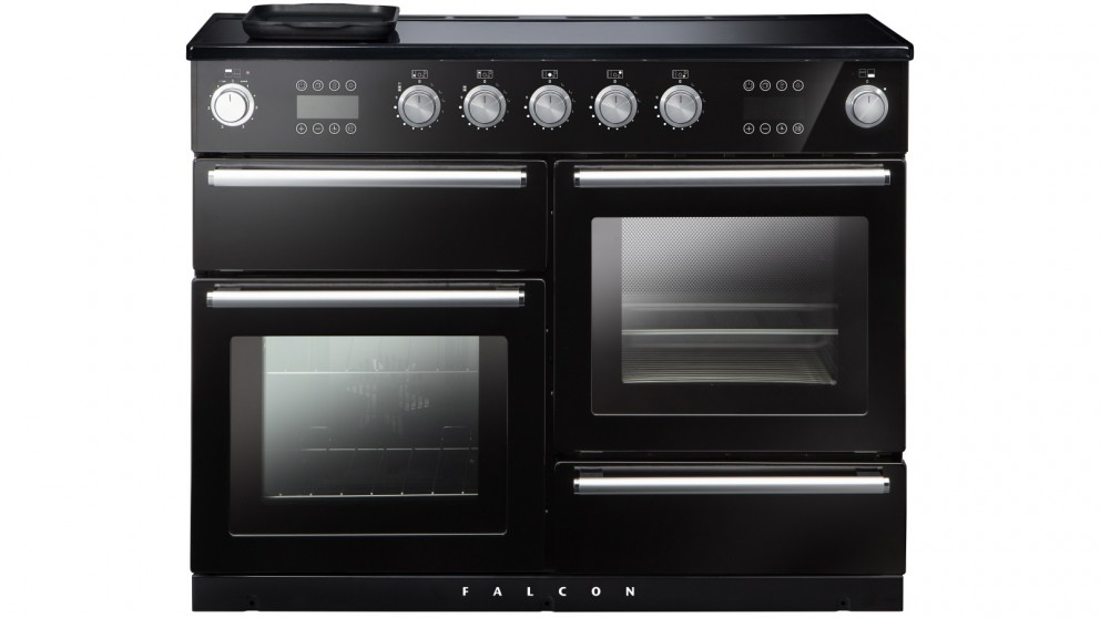 Falcon Nexus Steam 1100mm Chrome Fitting Freestanding Induction Cooker - Black