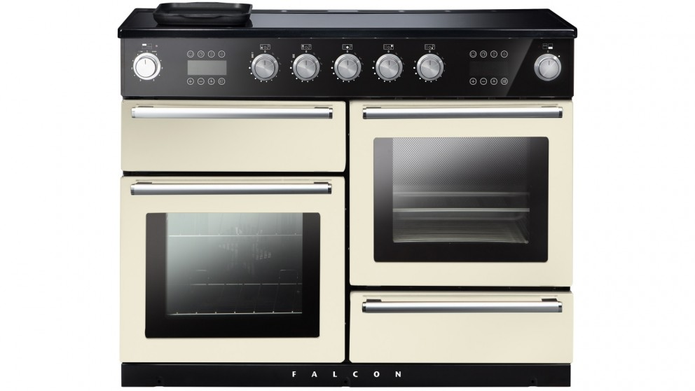 Falcon Nexus Steam 1100mm Chrome Fitting Freestanding Induction Cooker - Ivory