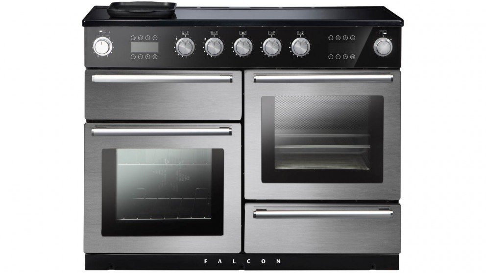 Falcon Nexus Steam 1100mm Chrome Fitting Freestanding Induction Cooker - Stainless Steel