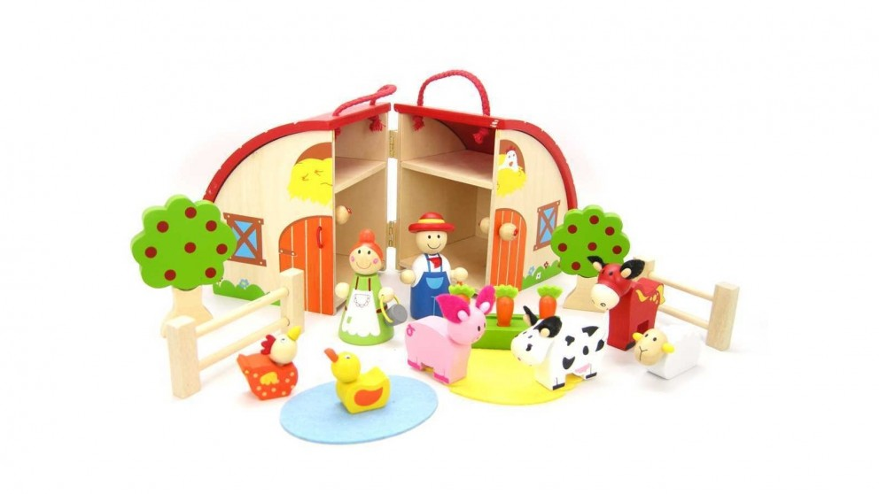 Kaper Kidz Farm Playset with Carry House