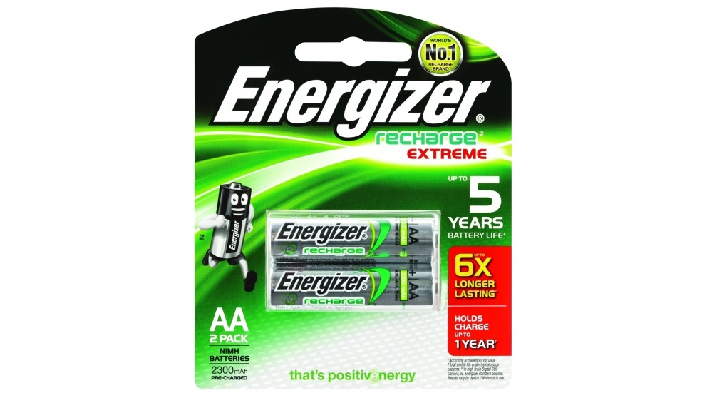 Energizer Recharge AA Batteries - 2 Pack
