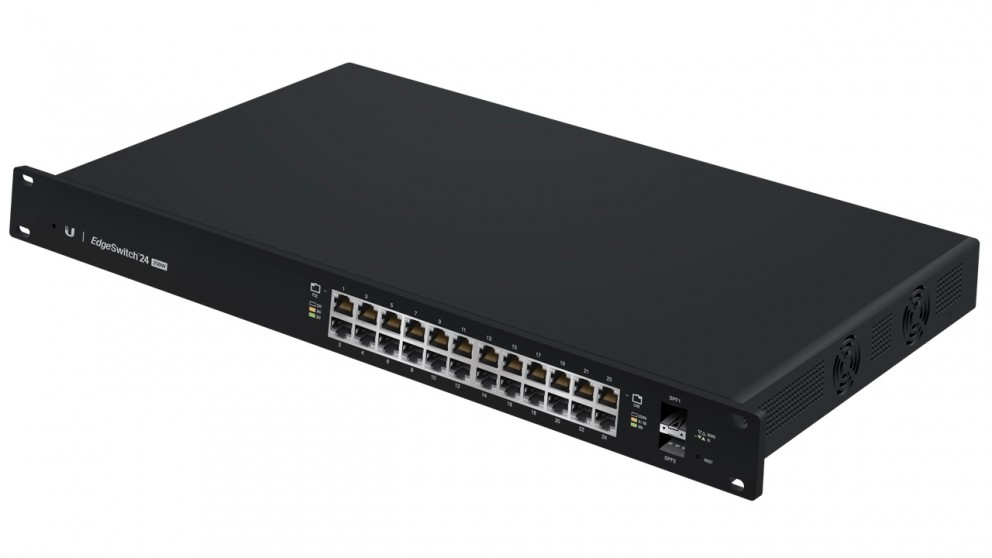Ubiquity EdgeSwitch 24-Port 250W Managed PoE+ Gigabit Switch