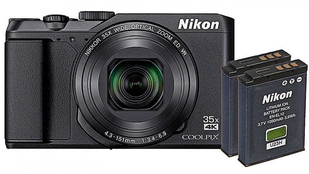 Nikon Coolpix A900 Digital Camera with Dual Battery