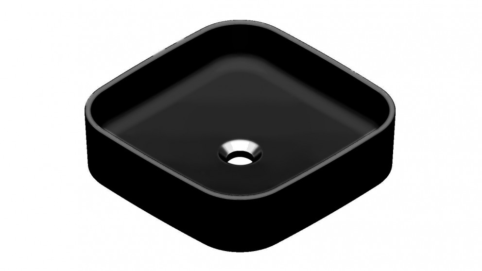 Argent Grace Square Countertop Basin without Tap Hole - Matte Black