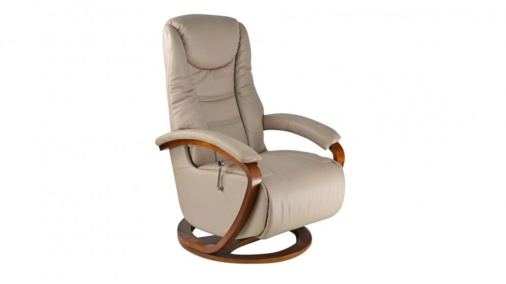 buy nordic leather swivel recliner harvey norman au