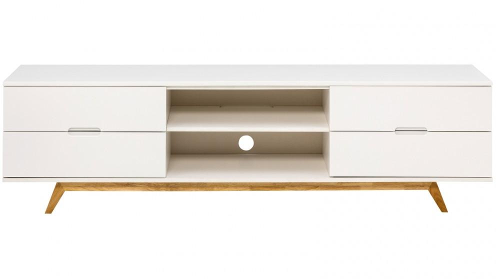 Tauris Nova 1800mm TV Cabinet - White