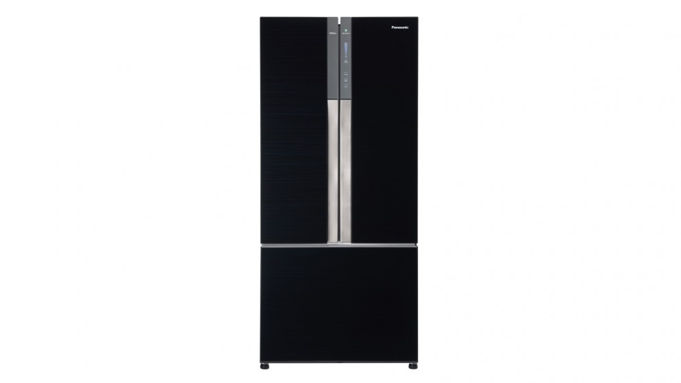 Panasonic 547L PrimeFresh French Door Fridge - Black Glass
