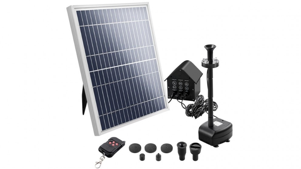 Solar 8.8ft Pond Pump for Water Fountain with LED Lights