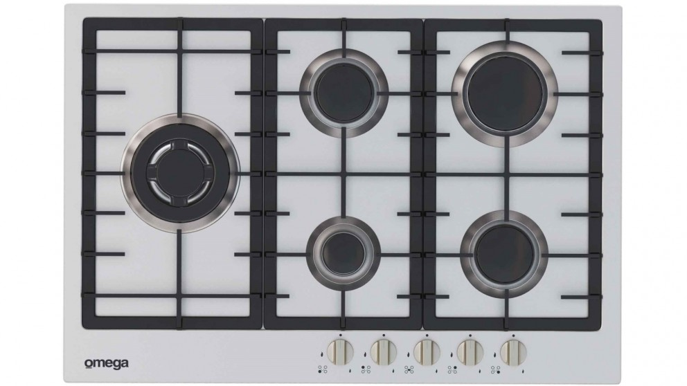 Omega 75cm 5 Burner Gas Cooktop