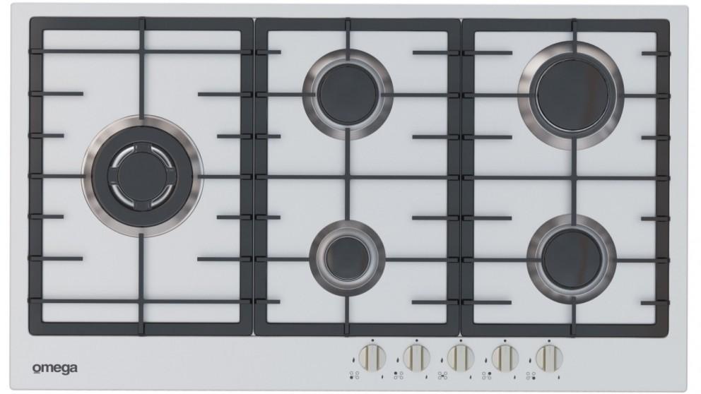 Omega 90cm 5 Burner Gas Cooktop