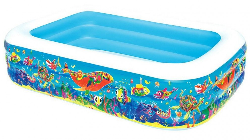 Bestway 56cm Rectangular Inflatable Kids Swimming Pool - Fishes