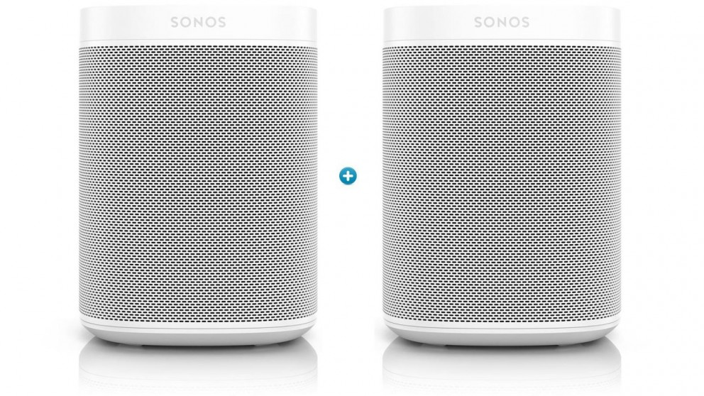 Sonos One Gen 2 Smart Speaker Bundle - White