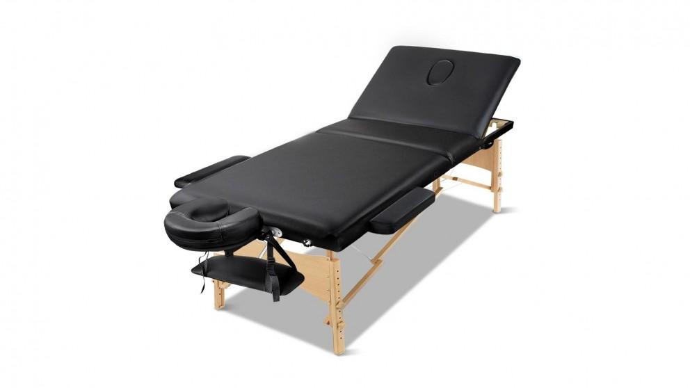 Zenses 3-Fold Aluminium Massage Table - Black - 60cm