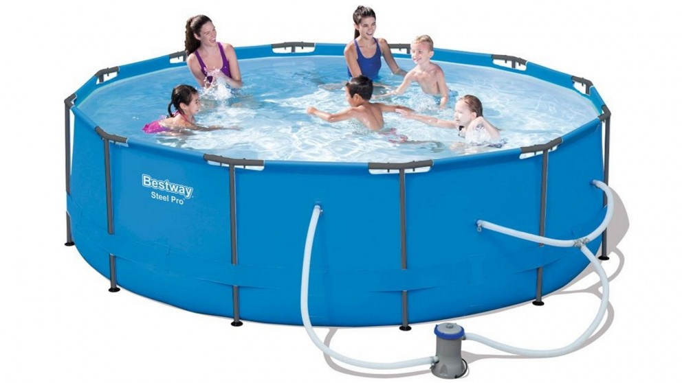 Bestway Steel Pro 100cm Above Ground Swimming Pool with Filter Pump