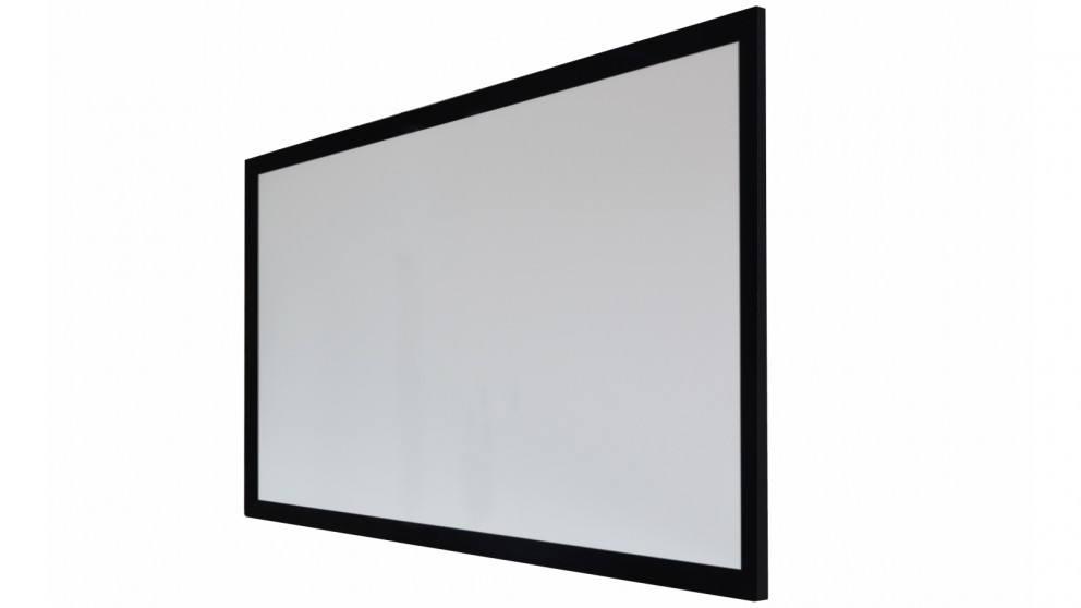 One Product 100-inch 4K White PVC Fabric Fixed Frame Projector Screen for Normal/Long Throw Projectors