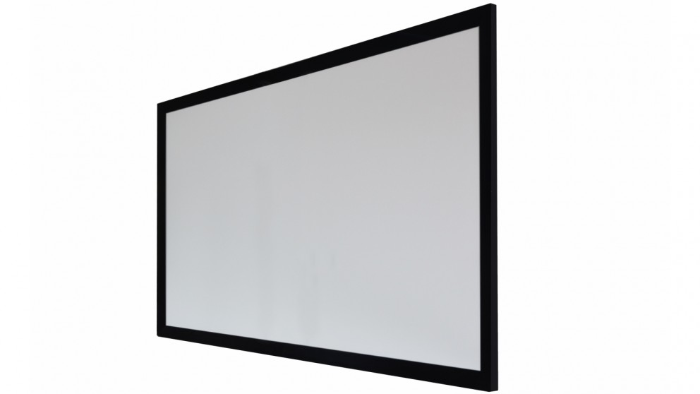 One Product 140-inch White PVC Fabric Fixed Frame Projector Screen for Normal/Long Throw Projectors