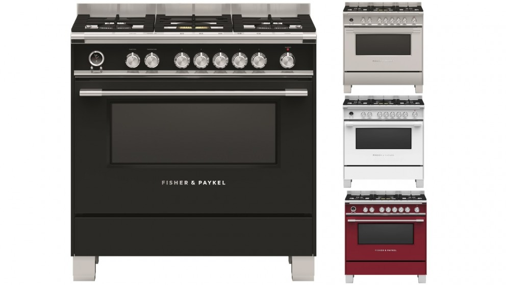 Fisher & Paykel 900mm Pyrolytic Freestanding Dual Fuel Cooker