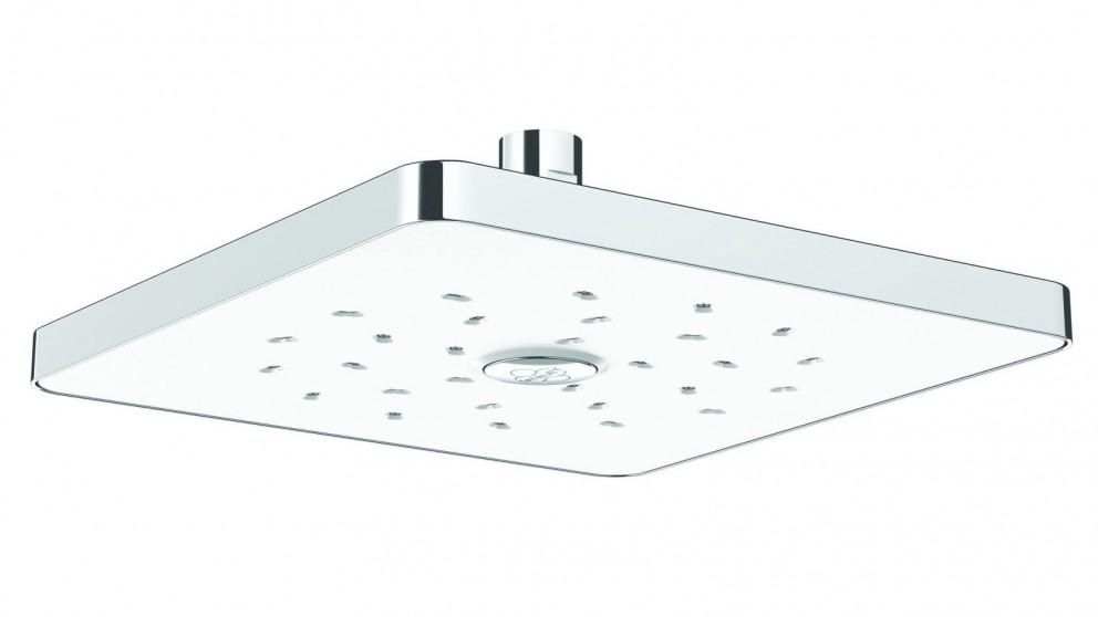Methven Satinjet Square Drencher Shower Head - White