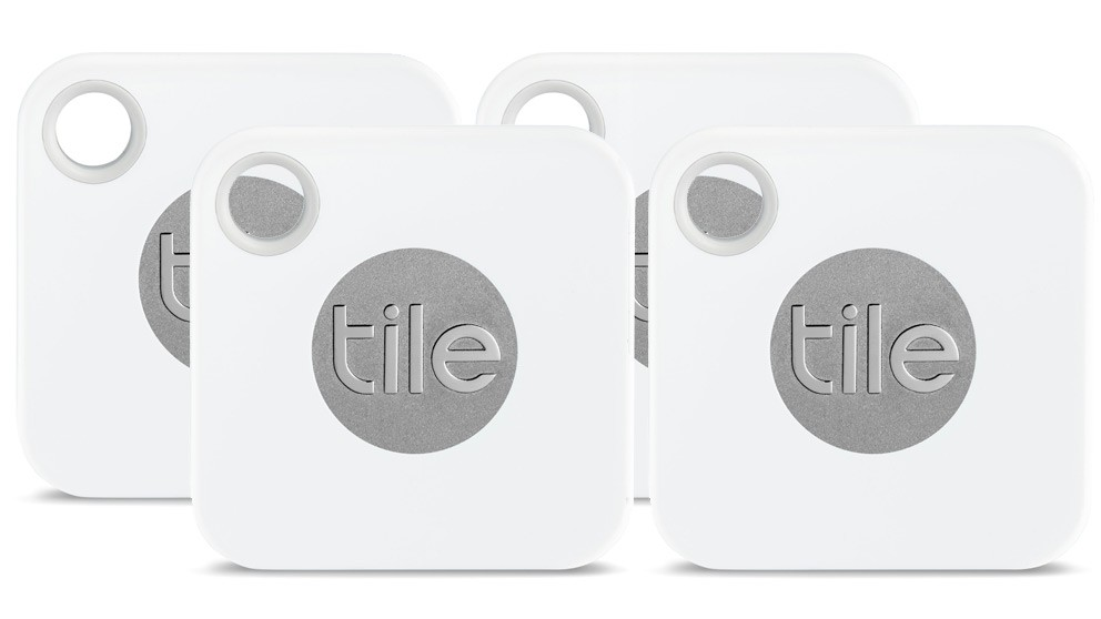 Tile Mate 4-Pack Bluetooth Tracker with User Replaceable Battery