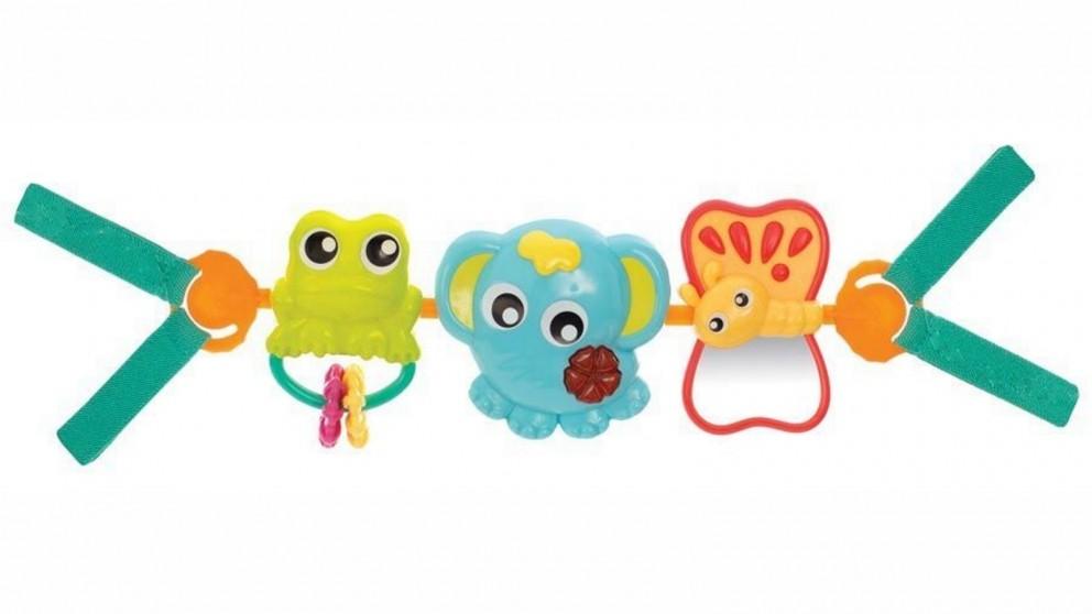 Playgro Travel Trio Musical Pram Tie Baby Activity Toy